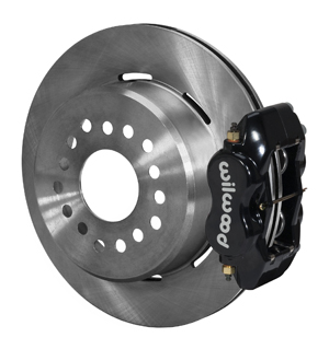 Wilwood Forged Dynalite Rear Parking Brake Kit - Black Powder Coat Caliper - Plain Face Rotor
