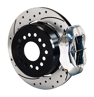 Wilwood Forged Dynalite Rear Parking Brake Kit - Polish Caliper - SRP Drilled & Slotted Rotor
