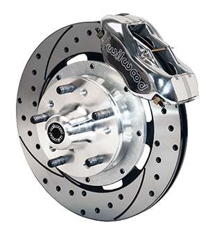 Wilwood Forged Dynalite Big Brake Front Brake Kit (Hub) - Polish Caliper - SRP Drilled & Slotted Rotor