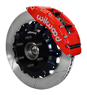Wilwood TC6R Big Brake Truck Front Brake Kit - Red Powder Coat Caliper - GT Slotted Rotor