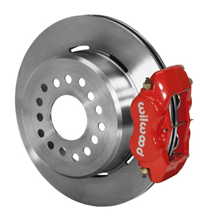Wilwood Forged Dynalite Rear Parking Brake Kit - Red Powder Coat Caliper - Plain Face Rotor