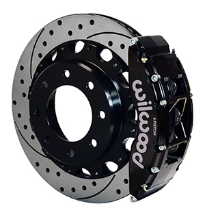 Wilwood TC6R Big Brake Truck Rear Brake Kit - Black Powder Coat Caliper - SRP Drilled & Slotted Rotor