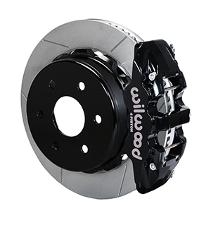 Wilwood AERO4 Big Brake Truck Rear Brake Kit - Black Powder Coat Caliper - GT Slotted Rotor
