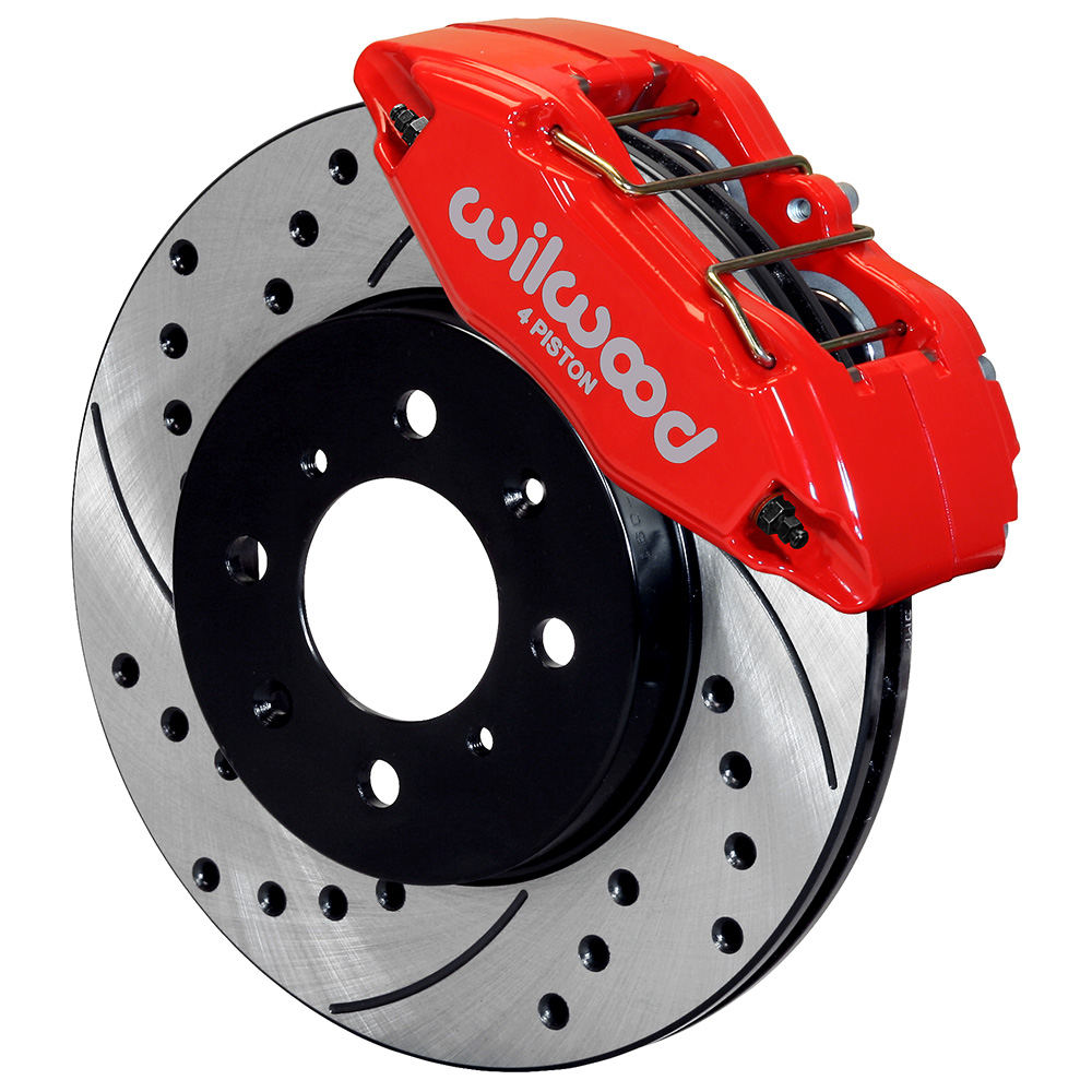 Wilwood 140-12996-DR Forged DPHA Front Caliper Kit for honda/acura-262mm rotor