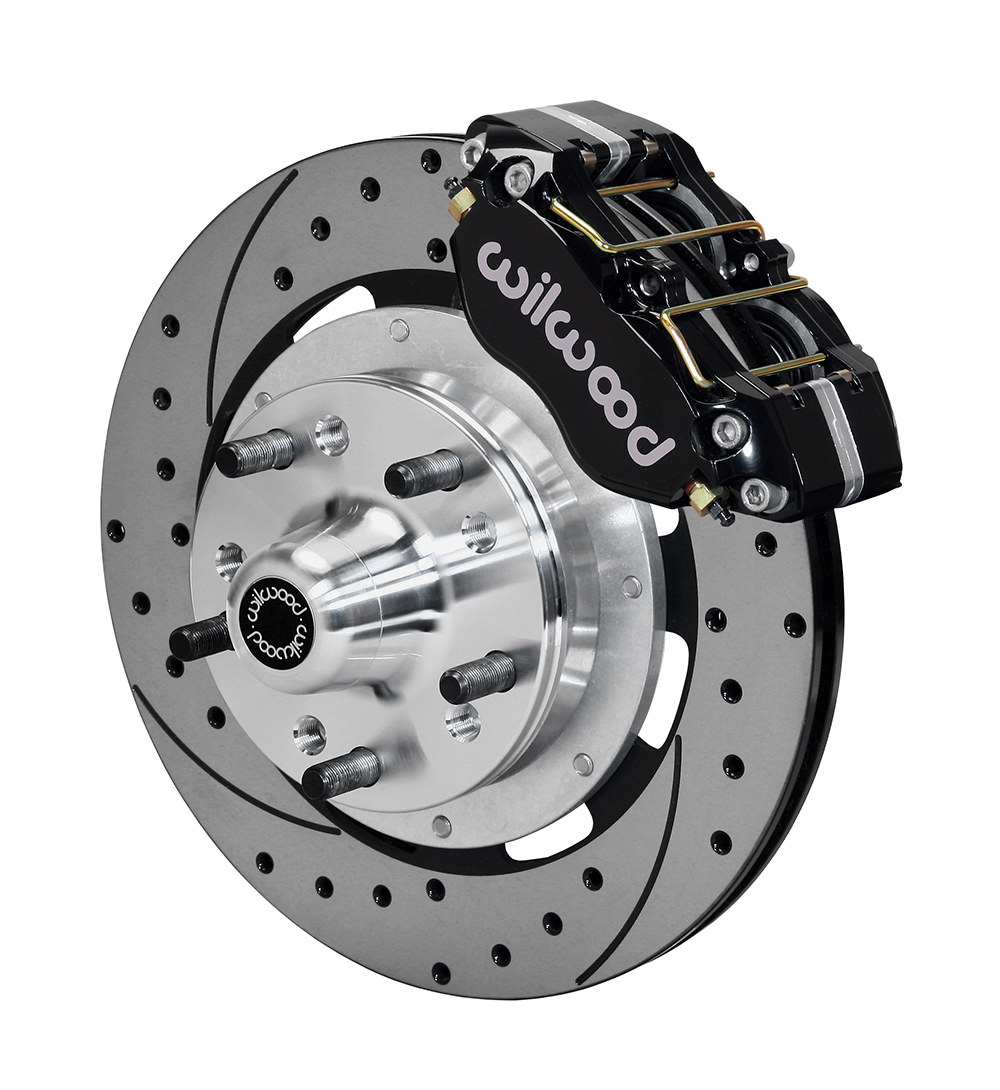 Wilwood Dynapro Dust-Boot Big Brake Front Brake Kit (Hub) - Black Powder Coat Caliper - SRP Drilled & Slotted Rotor