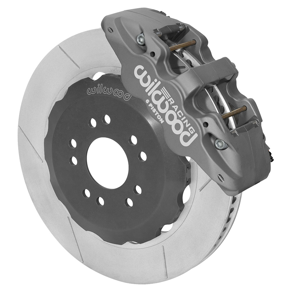 Wilwood AERO6 Big Brake Front Brake Kit (Race) - Type III Ano Caliper - GT Slotted Rotor