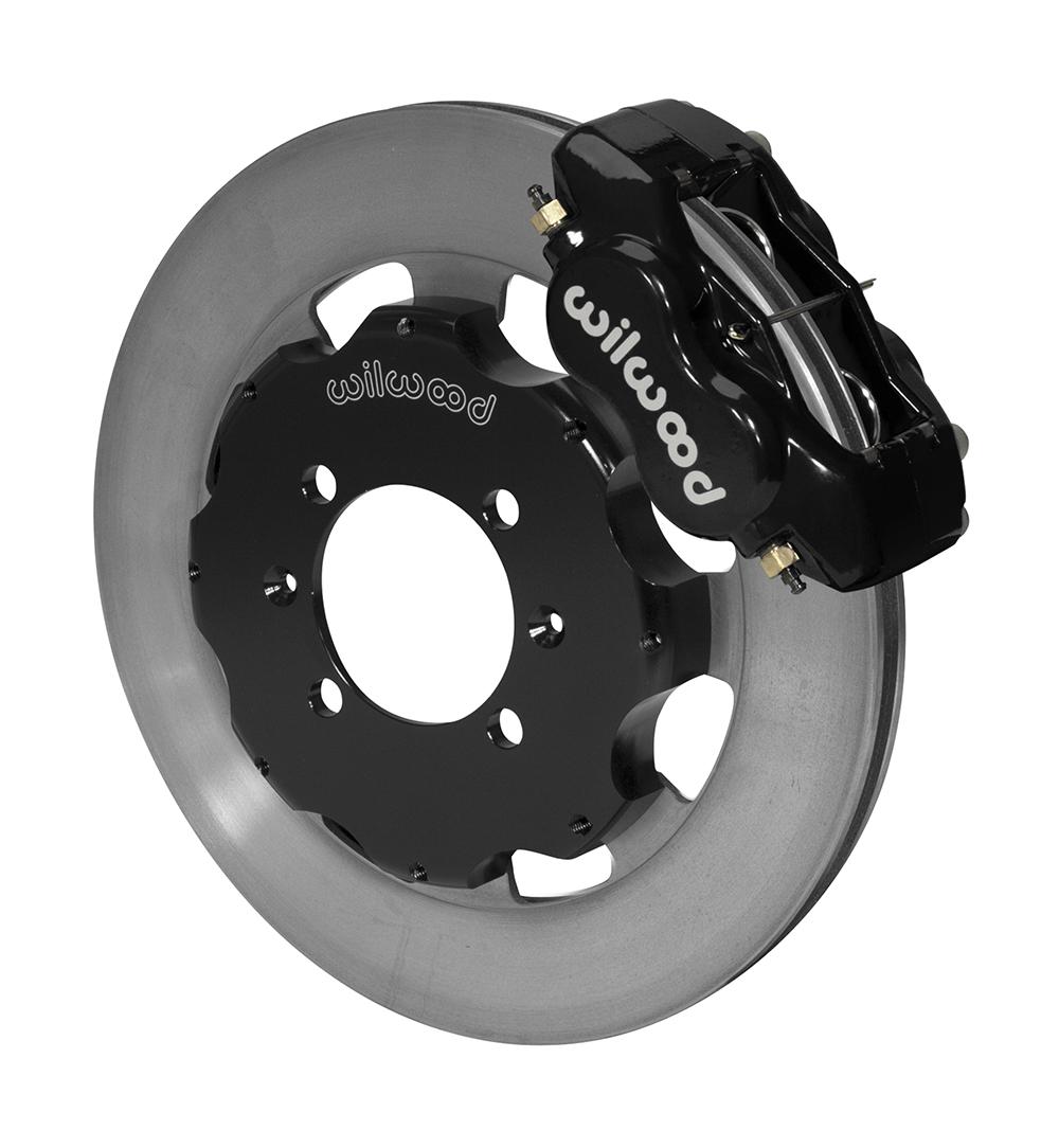 Wilwood Forged Dynalite Big Brake Front Brake Kit (Hat) - Black Powder Coat  Caliper