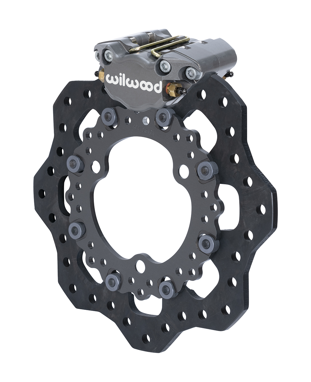Wilwood Dynapro Single Front Dirt Modified Brake Kit - Type III Ano Caliper - Drilled Rotor
