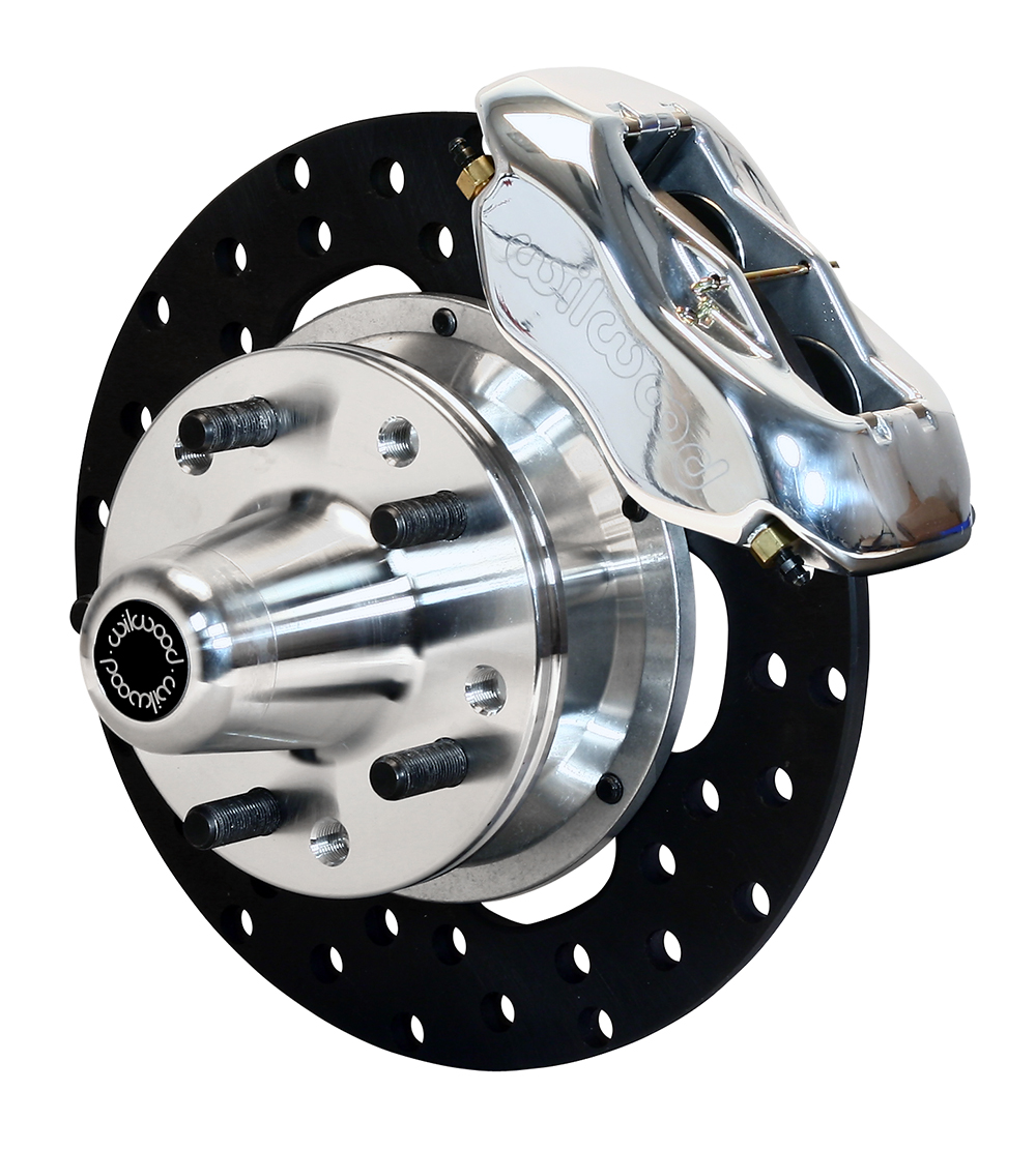 Wilwood Forged Dynalite Front Drag Brake Kit - Polish Caliper - Drilled Rotor