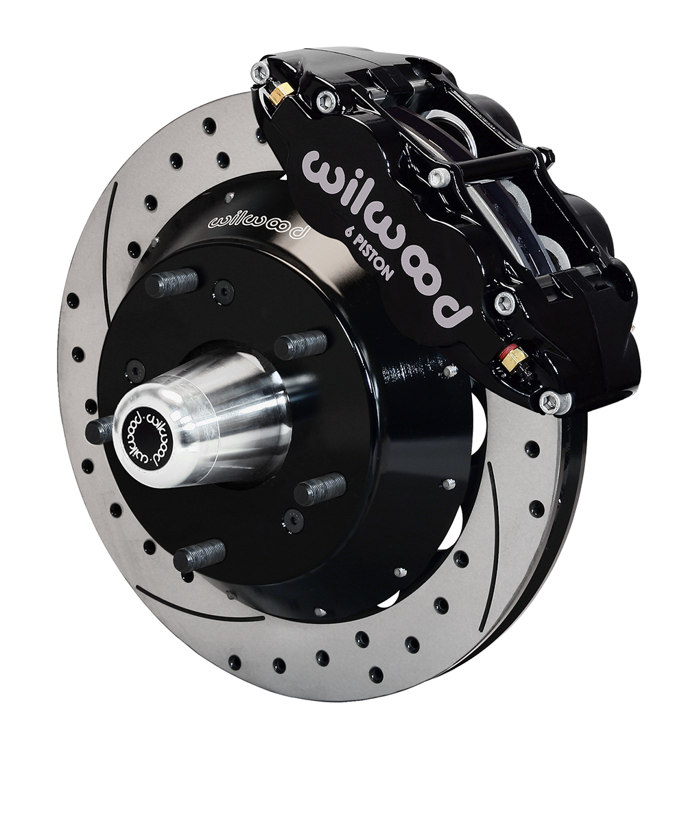 Wilwood Forged Narrow Superlite 6R Big Brake Front Brake Kit (Hub) - Black  Powder