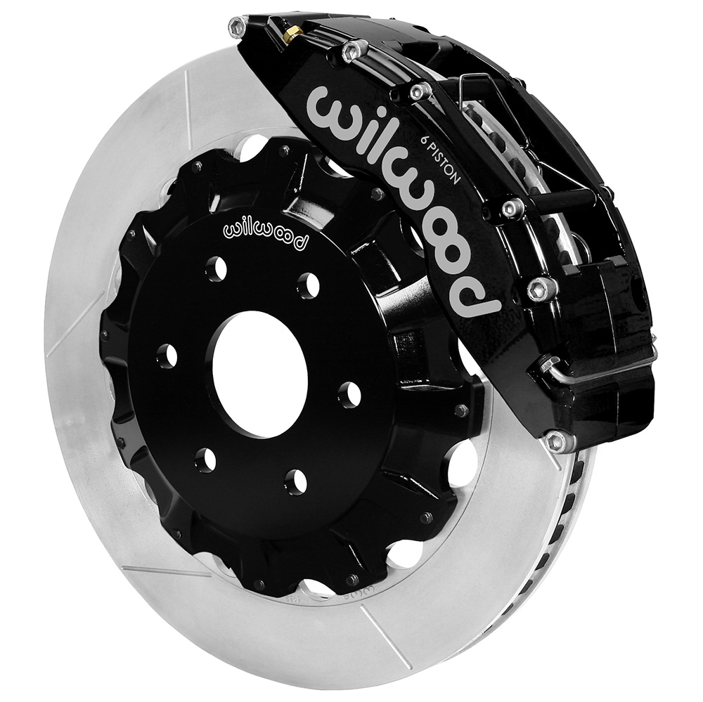Wilwood TC6R Big Brake Truck Front Brake Kit - Black Powder Coat Caliper - GT Slotted Rotor