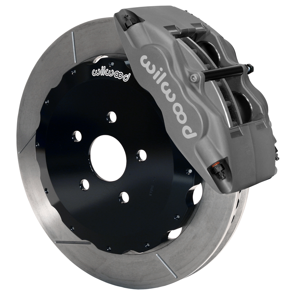 Wilwood Forged Superlite 4 Big Brake Front Brake Kit (Hat) - Type III Ano Caliper - GT Slotted Rotor