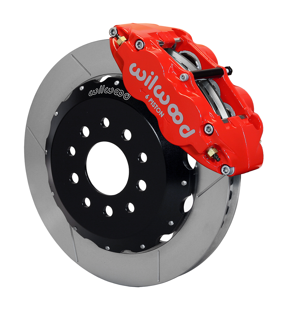Wilwood Forged Narrow Superlite R Big Brake Front Brake Kit Hat Red Powder