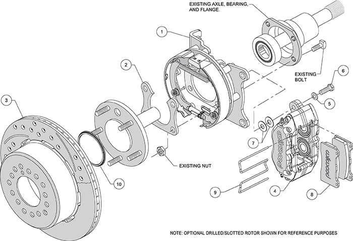 Dynapro Dust-Boot Rear Parking Brake Kit Assembly Schematic