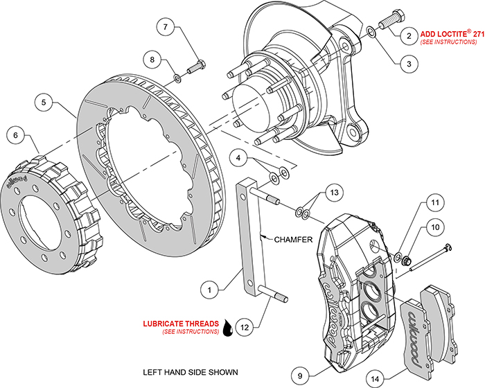 TX6R Big Brake Truck Front Brake Kit Assembly Schematic