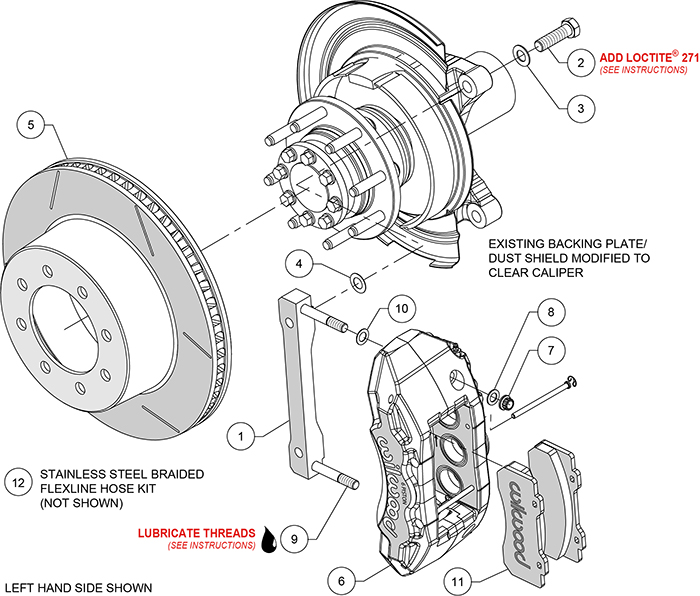 TX6R Big Brake Truck Rear Brake Kit Assembly Schematic