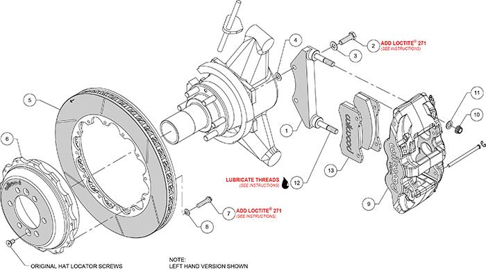 AERO4 Big Brake Rear Brake Kit For OE Parking Brake