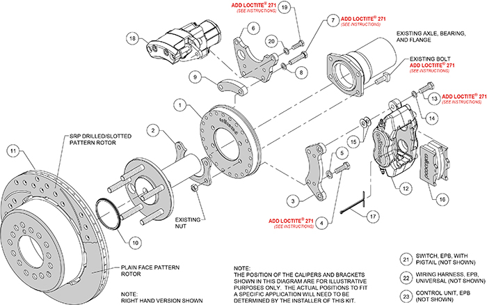 Forged Dynalite Rear Electronic Parking Brake Kit Assembly Schematic