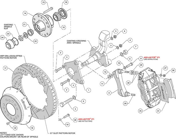 Forged Narrow Superlite 6R Big Brake Front Brake Kit (Hub)