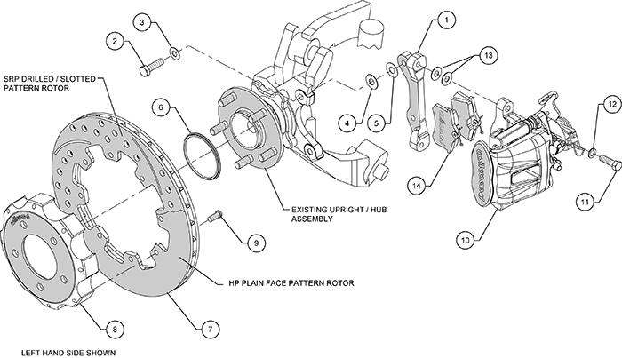 Wilwood Disc Brakes Rear Brake Kit Part No 140 11979 Dr