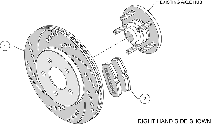 Promatrix Rear Replacement Rotor Kit Assembly Schematic