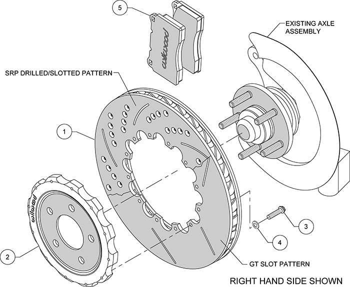 Promatrix Front Replacement Rotor Kit Assembly Schematic
