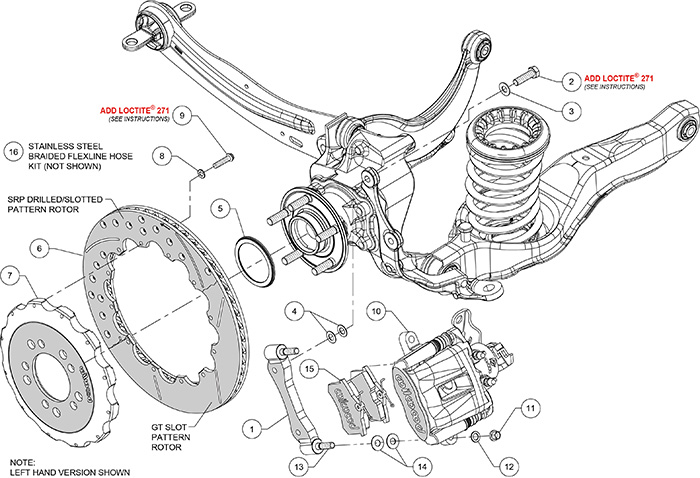 ford focus front brake caliper diagram