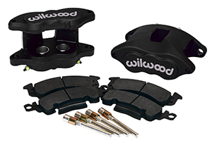 Wilwood D52 Rear Caliper Kit Parts Laid Out - Black Anodize Caliper