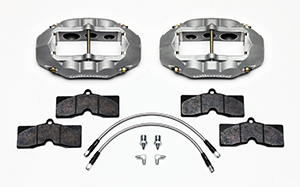 Wilwood D8-6 Front Replacement Caliper Kit Parts Laid Out - Type III Ano Caliper