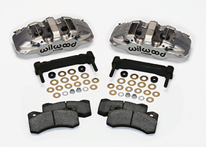 Wilwood AERO6 Front Caliper and Bracket Upgrade Kit for Corvette C5-C6 Parts Laid Out - Nickel Plate Caliper