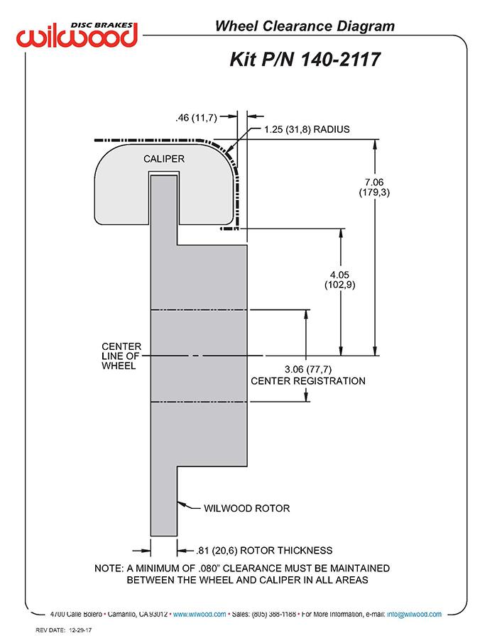 Magnificent Wilwood Disc Brakes Rear Brake Kit Part No 140 2117 R Wiring Digital Resources Bemuashebarightsorg
