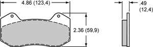 Wilwood Brake Pad Plate #6712