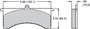 Wilwood Brake Pad Plate #7516