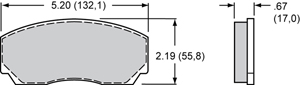 Wilwood Brake Pad Plate #8517
