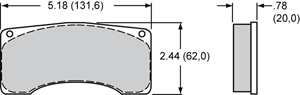 Wilwood Brake Pad Plate #9220