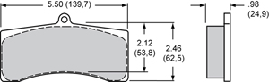Wilwood Brake Pad Plate #9725