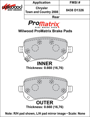 Wilwood Brake Pad Plate #D1326