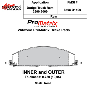 Wilwood Brake Pad Plate #D1400