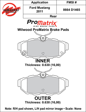 Wilwood Brake Pad Plate #D1465