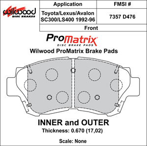 Wilwood Brake Pad Plate #D476