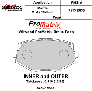 Wilwood Brake Pad Plate #D635
