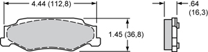 Wilwood Brake Pad Plate #D732