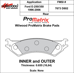 Wilwood Brake Pad Plate #D802