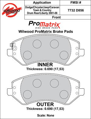 Wilwood Brake Pad Plate #D856