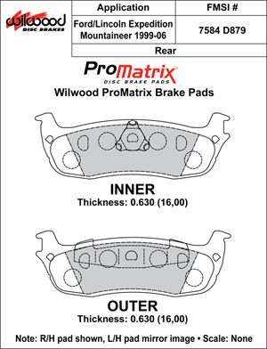 Wilwood Brake Pad Plate #D879