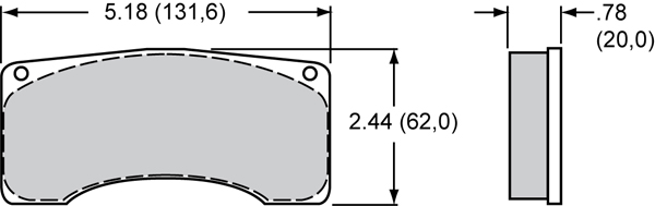 Wilwood Brake Pad Plate #9220 Large Drawing