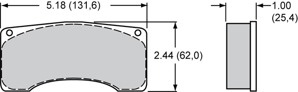 Wilwood Brake Pad Plate #9225 Large Drawing