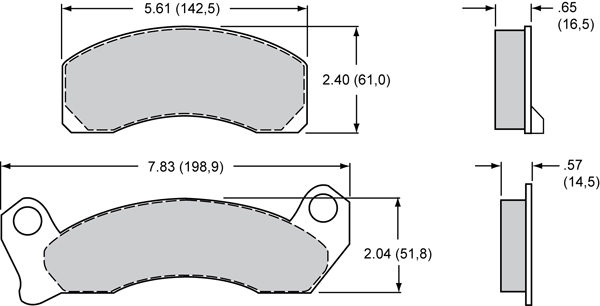 Wilwood Brake Pad Plate #D431 Large Drawing