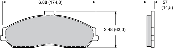 Wilwood Brake Pad Plate #D731 Large Drawing