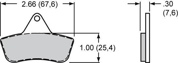 Wilwood High Performance Disc Brakes - Brake Pad Part Number: 150-4091k - Test